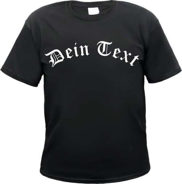 Individuelles T-Shirt - Wunschtext - Gebogener Frontdruck