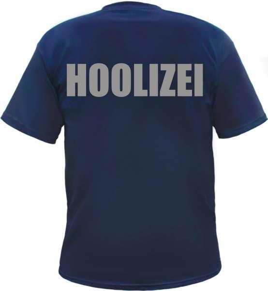 Hoolizei T-Shirt - Dunkelblau mit Druck in Silber
