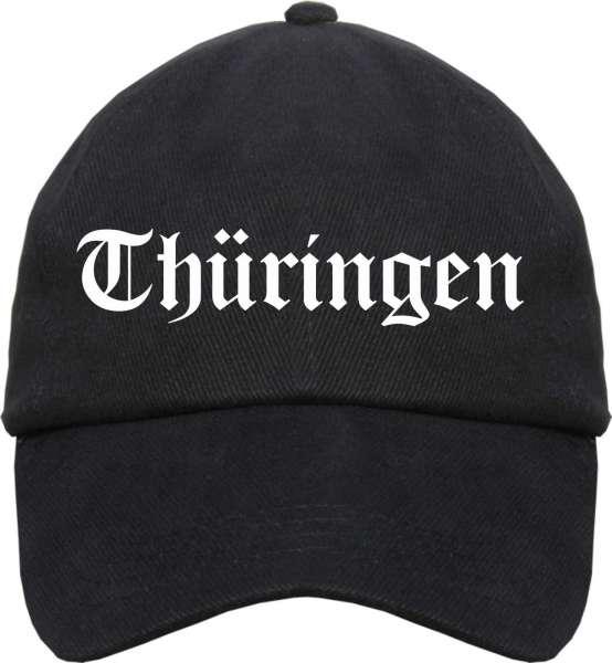 Thüringen Cappy - Altdeutsch - Schwarze Schirmmütze