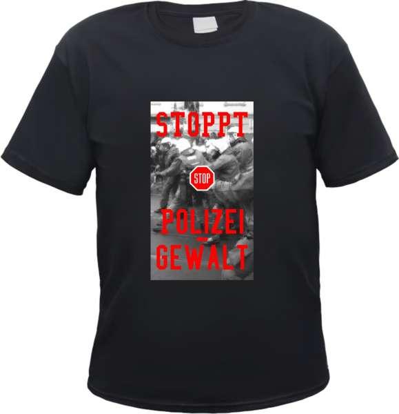 Stoppt Polizeigewalt T-Shirt +++ schwarz