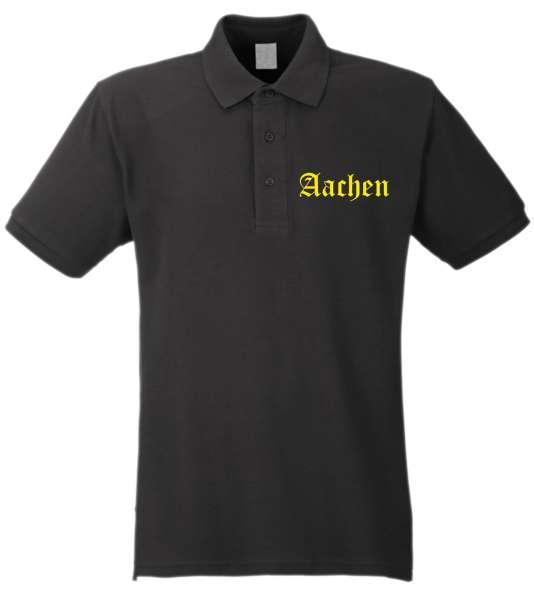 AACHEN Poloshirt + Altdeutsch + Brust-Druck