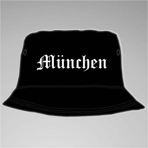 MÜNCHEN Fischerhut + Altdeutsch + schwarz