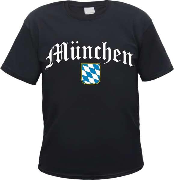 MÜNCHEN T-Shirt - Mit Bavaria Wappen - Schwarz