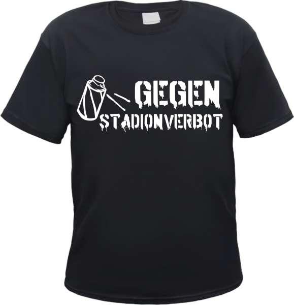 Gegen Stadionverbot T-Shirt - Schwarz - Verschiedene Druckfarben