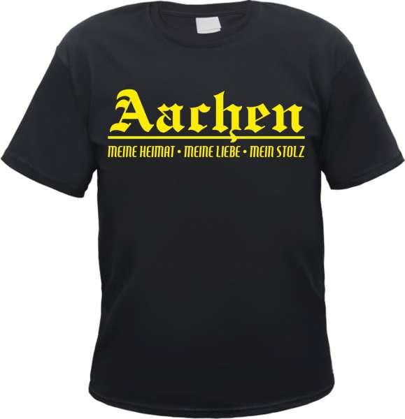 AACHEN T-Shirt + Meine Heimat + schwarz