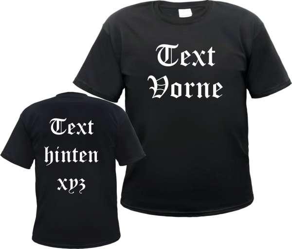 Individuelles T-Shirt - Vorne und Hinten - mit Wunschtext
