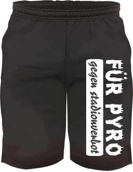 Assi-Sweat-Shorts FÜR PYRO + schwarz/weiss