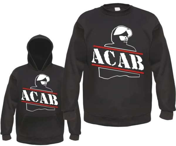 ACAB Sweatshirt - Polizist - Schwarz Weiss Rot