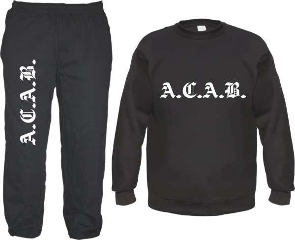 ACAB Jogginganzug - Sweater und Jogginghose im Set