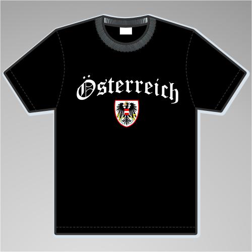 Österreich T-Shirt mit Wappen +++ schwarz