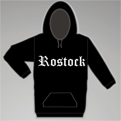 ROSTOCK Sweatshirt + Altdeutsch + schwarz