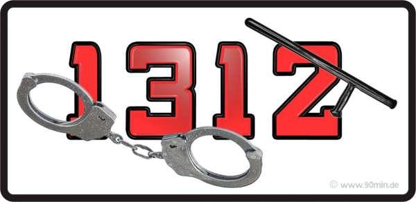 1312 - Handschellen Aufkleber / Sticker