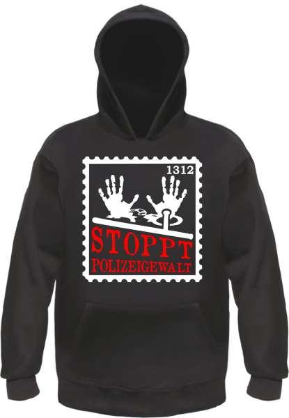 Stoppt Polizeigewalt Sweatshirt - Briefmarke - Schwarz