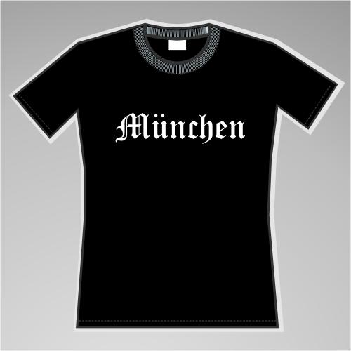 MÜNCHEN Mädels-Shirt + Altdeutsch + schwarz