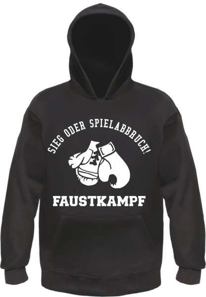 Sieg oder Spielabbruch Sweatshirt - Faustkampf - Schwarz