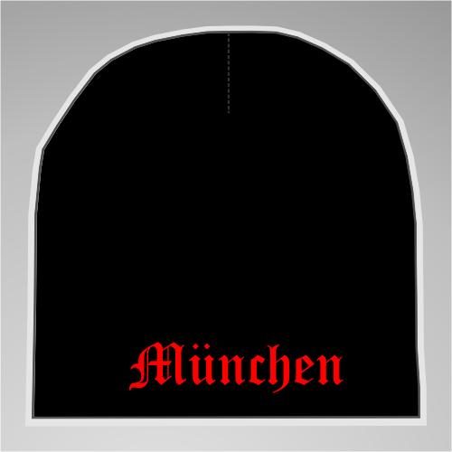 MÜNCHEN Beanie Mütze - Schwarz - Bestickt