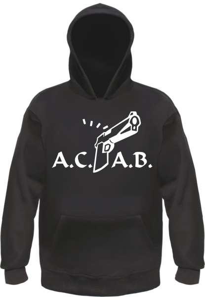A.C.A.B. Knarre Sweatshirt +++ schwarz/weiss