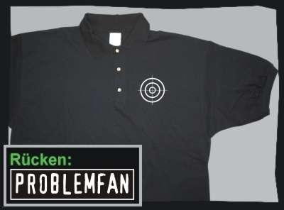Problemfan Poloshirt +++ schwarz/weiss