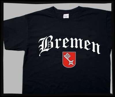 Bundesland: BREMEN T-Shirt + schwarz mit Wappen