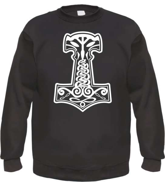 Thorshammer Sweatshirt - Mjolnir / Mjölnir - Schwarz