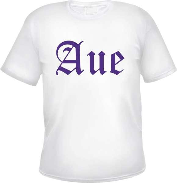 AUE T-Shirt + Altdeutsch + Weiss / Lila