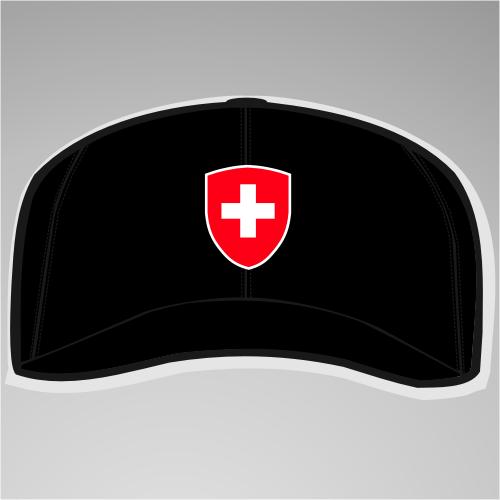 Schweiz / Helvetia Cap / Schirmmütze mit Wappen +++ schwarz
