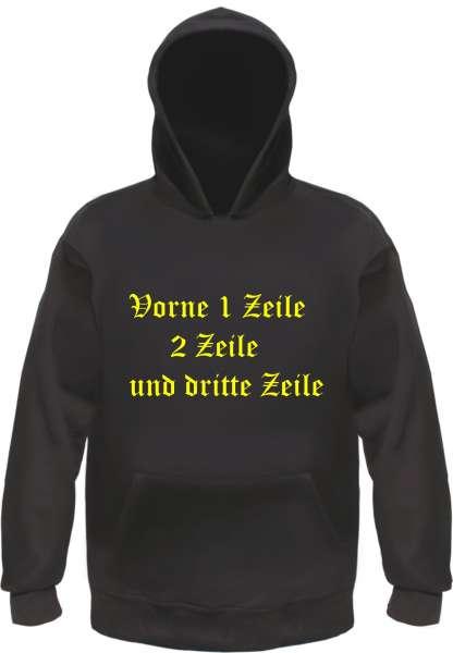 Sweatshirt mit Wunschtext - Vorne und Hinten bedruckt