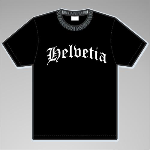 Helvetia T-Shirt Altdeutsch +++ schwarz/weiss