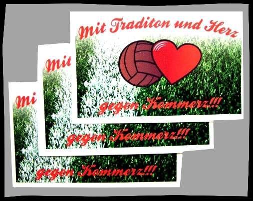 TRADITION & HERZ Aufkleber / Sticker