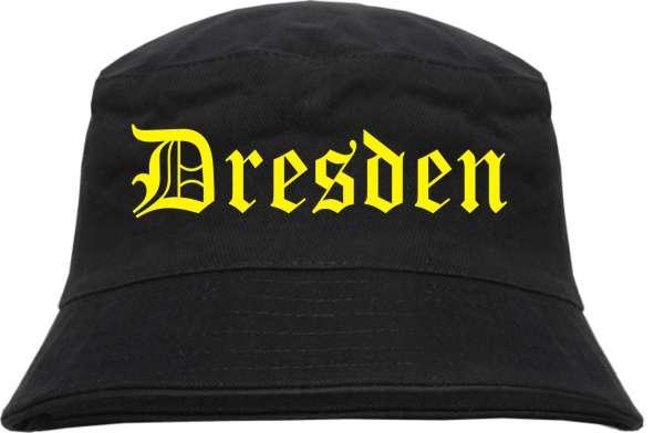 DRESDEN Fischerhut + schwarz