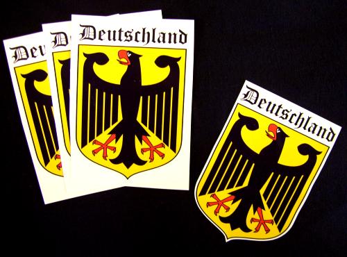 Deutschland Aufkleber / Sticker