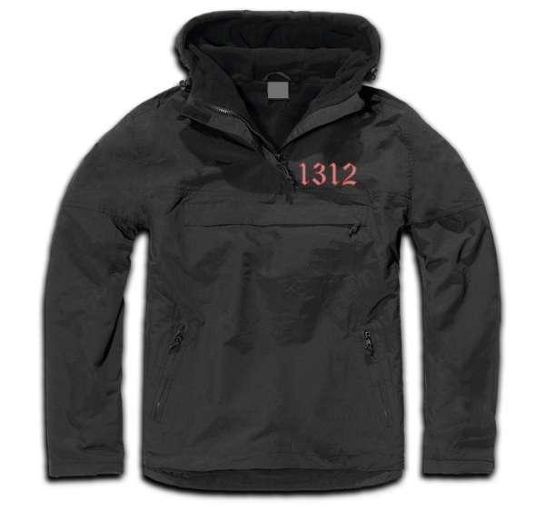 Windbreaker Jacke - 1312 Altdeutsch - Schwarz Grau Rot