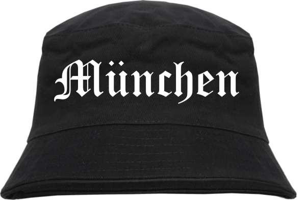 München Fischerhut - Altdeutsch - Schwarz