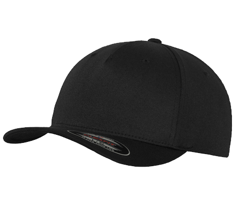 Flexfit Cappy - Schwarz - Fitted Baseball Cap