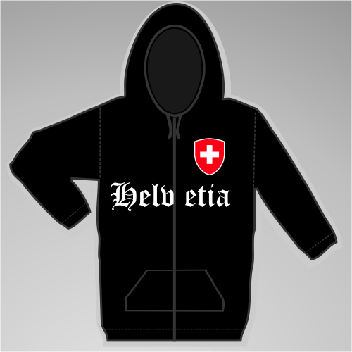 Helvetia Kapuzenjacke mit Wappen +++ schwarz