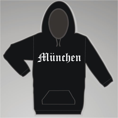 MÜNCHEN Sweatshirt + Altdeutsch + schwarz/weiss