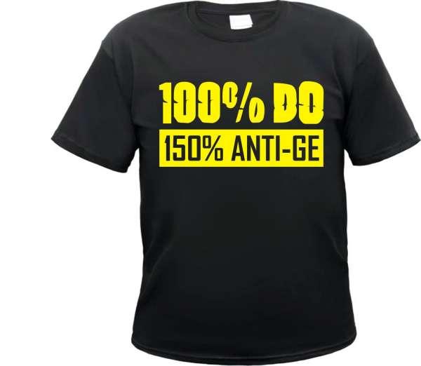 100% DO Anti GE Dortmund T-Shirt + schwarz/gelb
