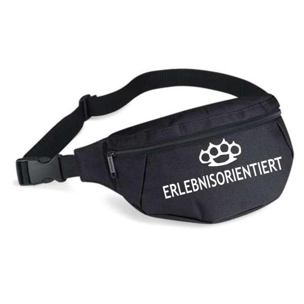 """ERLEBNISORIENTIERT Bauchtasche """"Schlagring"""" + schwarz/weiss"""