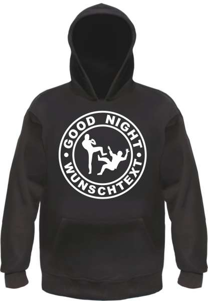 Sweatshirt + GOOD NIGHT + Individuell Wunschtext