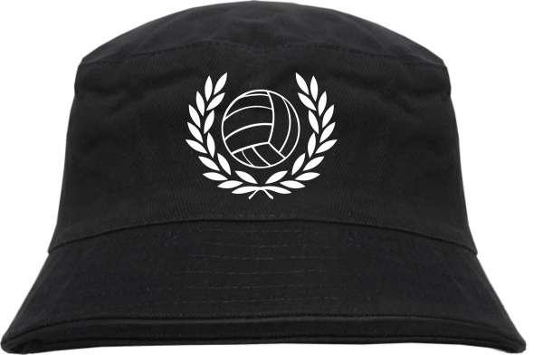 Lorbeerkranz mit Fussball Fischerhut - Schwarz - Bucket Hat