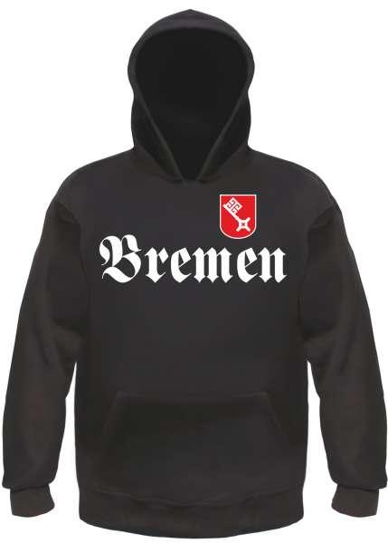 BREMEN Sweatshirt - Fraktur mit Wappen - Schwarz