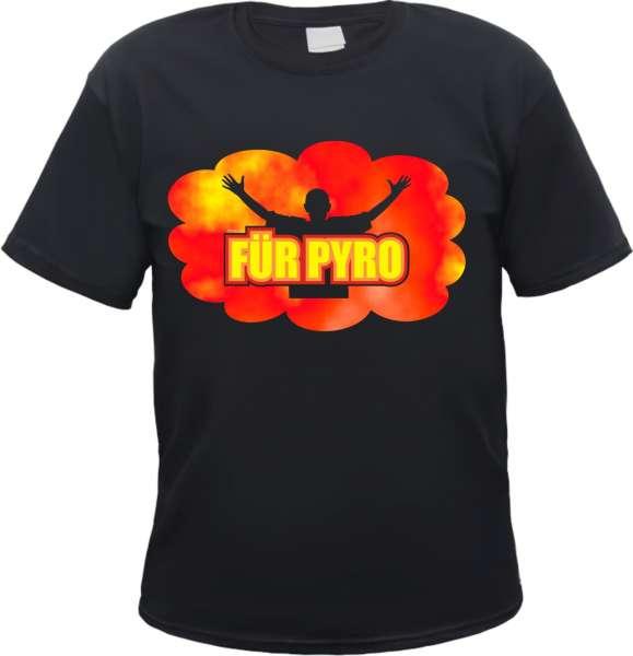 Für Pyro T-Shirt - Rauchwolke - Schwarz