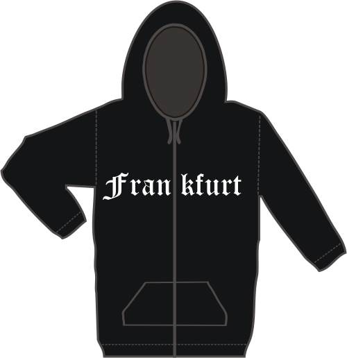 FRANKFURT Kapuzen-Jacke + Altdeutsch + schwarz