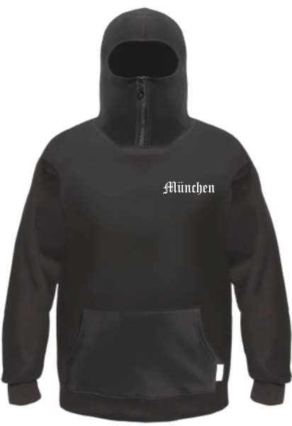 MÜNCHEN Ninja Hoodie - Brustdruck - Schwarz
