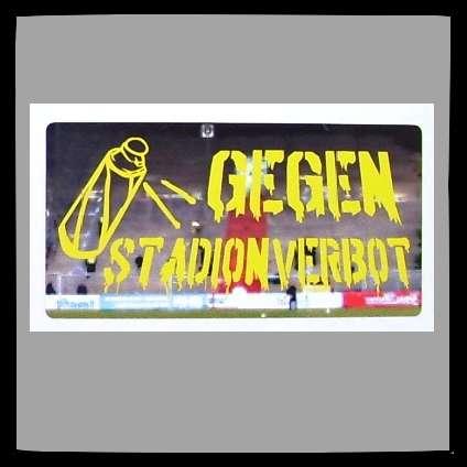 GEGEN STADIONVERBOT Aufkleber / Sticker