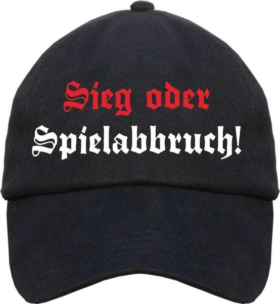 Sieg oder Spielabbruch Cap - Altdeutsch - Schwarz