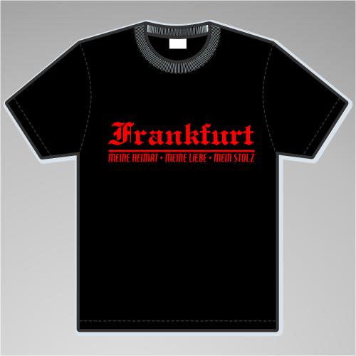 FRANKFURT T-Shirt + Meine Heimat + schwarz