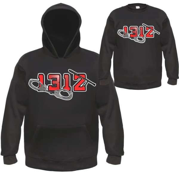 1312 Sweatshirt - Handschellen und Schlagstock - Schwarz
