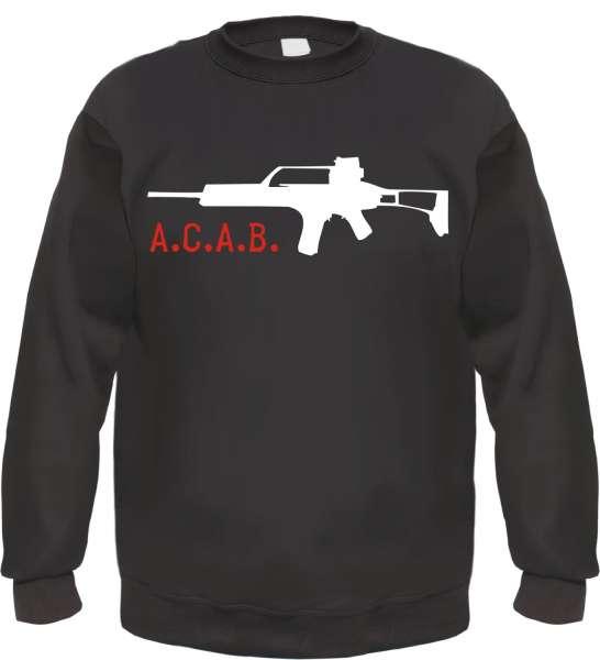 A.C.A.B. Sweatshirt - Gewehr - Schwarz