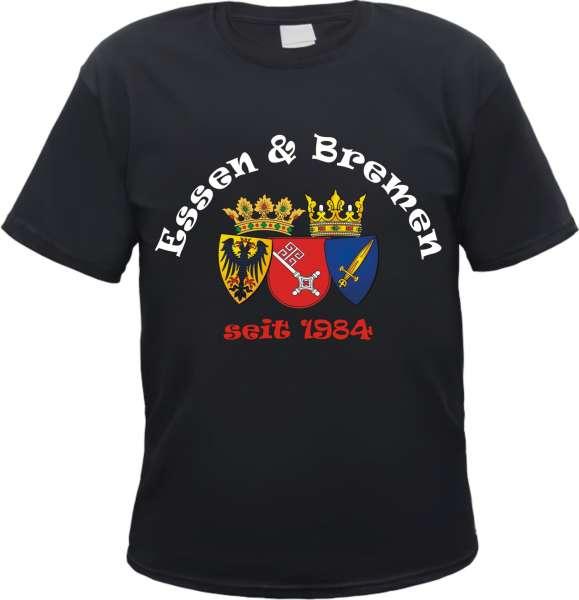ESSEN und BREMEN T-Shirt- Freundschaft - Schwarz